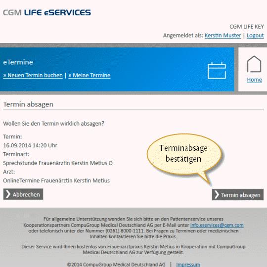 Termin absagen muster e mail